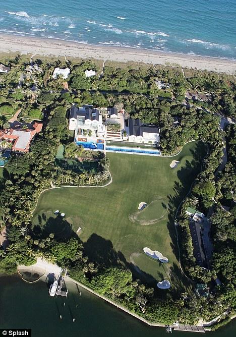 tiger woods new  54 5m house on jupiter island  fl