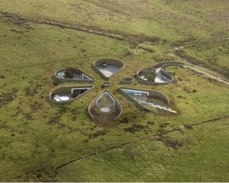 British Football Star Gary Neville Designs Underground Flower Shaped House