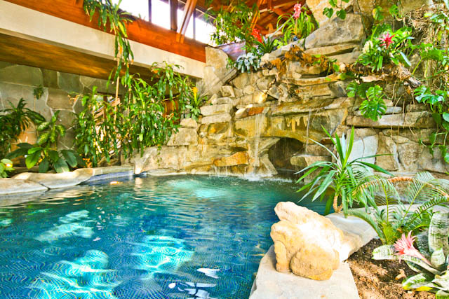 Tropical Paradise Resort House Inground Pool Hidden Grotto Bananas And Tropical Fruit In Wa