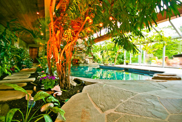 Tropical Paradise Resort House Inground Pool Hidden